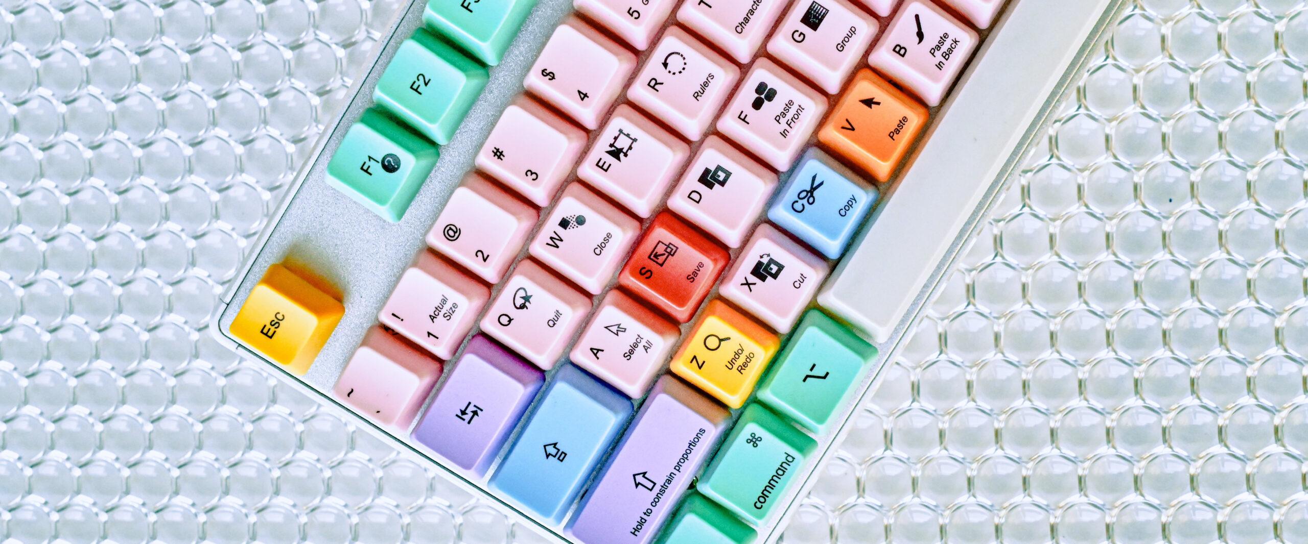 clavier ordinateur coloré